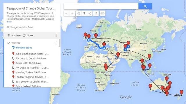 ToCh tour map